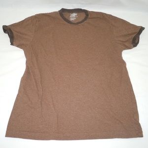 Old Navy Brown T-Shirt Tagless Large L Two Tone